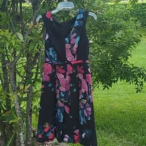 ADRIANNA PAPELL box pleat dress  size  2